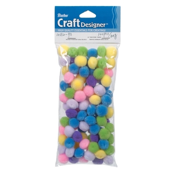 Darice Pom Poms SPRING ASSORTMENT 100 Pack 1018298