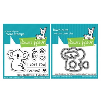 Lawn Fawn SET I LOVE YOU(CALYPTUS) Clear Stamps and Dies LF18ILY