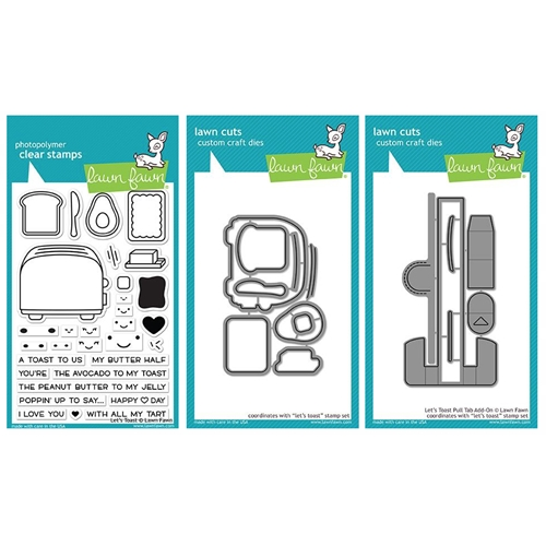Lawn Fawn SET LET'S TOAST Clear Stamps and Dies LF18LT Preview Image
