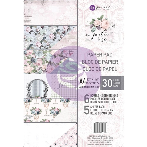 Prima Marketing A4 Paper Pad POETIC ROSE 631673 Preview Image