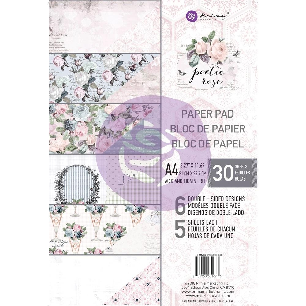 Prima Marketing A4 Paper Pad POETIC ROSE 631673 zoom image