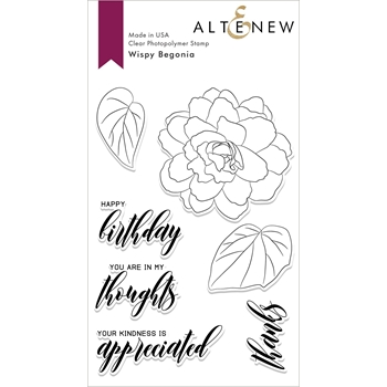 Altenew WISPY BEGONIA Clear Stamps ALT2861