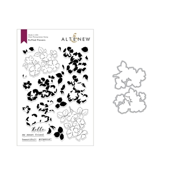 Altenew RUFFLED FLOWERS Clear Stamp and Die Set ALT2860