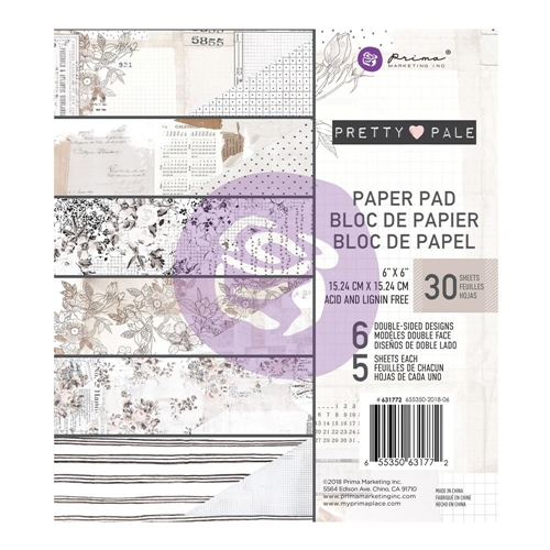 Prima Marketing PRETTY PALE 6 x 6 Paper Pad 631772 Preview Image
