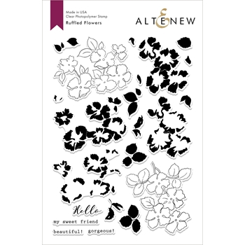 Altenew RUFFLED FLOWERS Clear Stamps ALT2858