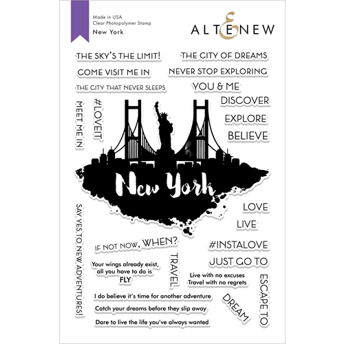 Altenew NEW YORK Clear Stamps ALT2857 Preview Image