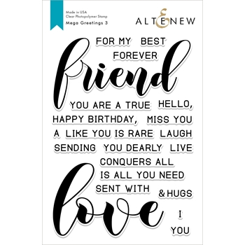 Altenew MEGA GREETINGS 3 Clear Stamps ALT2852