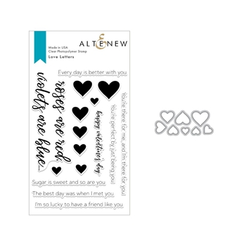 Altenew LOVE LETTERS Clear Stamp and Die Set ALT2851