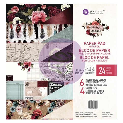 Prima Marketing MIDNIGHT GARDEN 12 x 12 Paper Pad 635992 Preview Image
