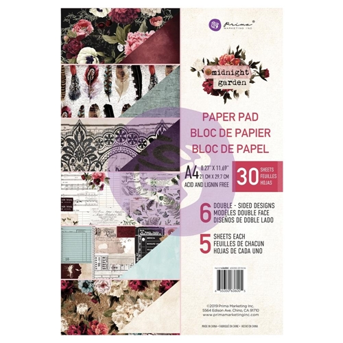 Prima Marketing A4 Paper Pad MIDNIGHT GARDEN 636005 Preview Image