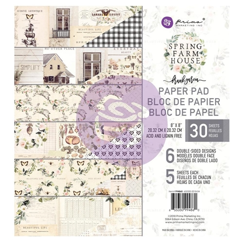 Prima Marketing SPRING FARMHOUSE 8 x 8 Paper Pad 994860 Preview Image