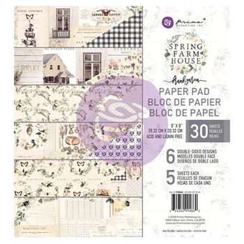 Prima Marketing SPRING FARMHOUSE 8 x 8 Paper Pad 994860