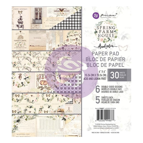 Prima Marketing SPRING FARMHOUSE 6 x 6 Paper Pad 994877 Preview Image