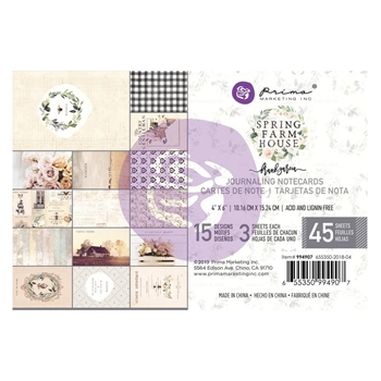 Prima Marketing SPRING FARMHOUSE 4 X 6 Journaling Cards Pad 994907