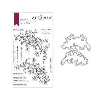 Altenew FLOWER VINE Clear Stamp and Die Set ALT2848