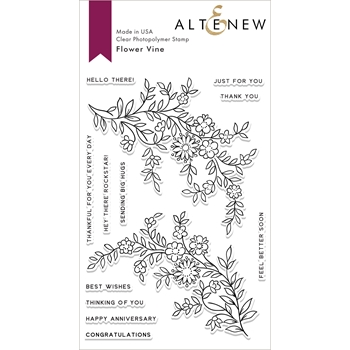 Altenew FLOWER VINE Clear Stamps ALT2846