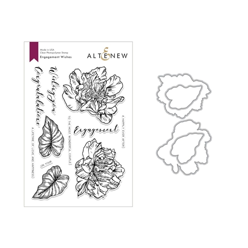 Altenew ENGAGEMENT WISHES Clear Stamp and Die Set ALT2845 Preview Image