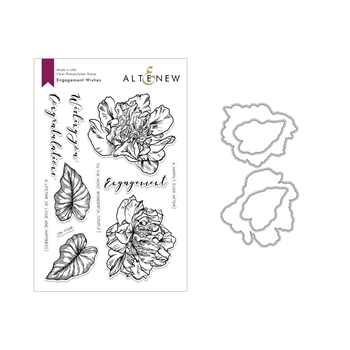 Altenew ENGAGEMENT WISHES Clear Stamp and Die Set ALT2845