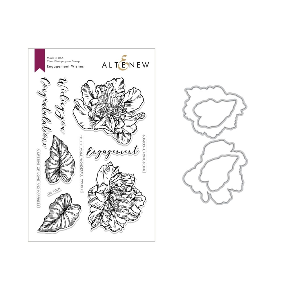 Altenew ENGAGEMENT WISHES Clear Stamp and Die Set ALT2845 zoom image