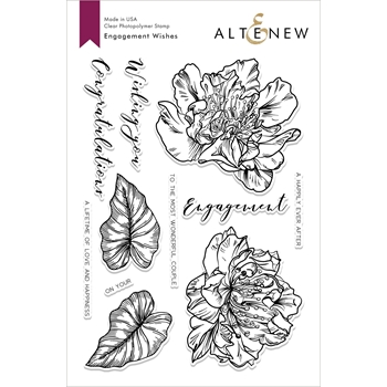 Altenew ENGAGEMENT WISHES Clear Stamps ALT2843