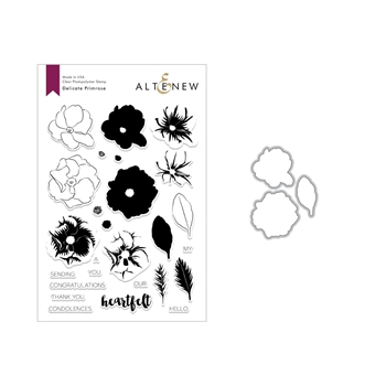 Altenew DELICATE PRIMROSE Clear Stamp and Die Set ALT2842