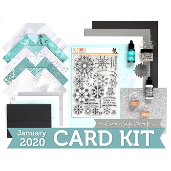 Simon Says Stamp Card Kit of The Month JANUARY 2019 SNOW MUCH ck0119