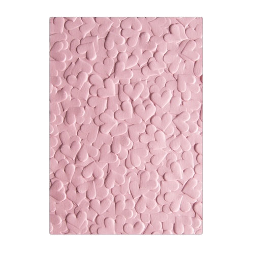 Sizzix Textured Impressions CONFETTI HEARTS 3D Embossing Folders 663201 Preview Image