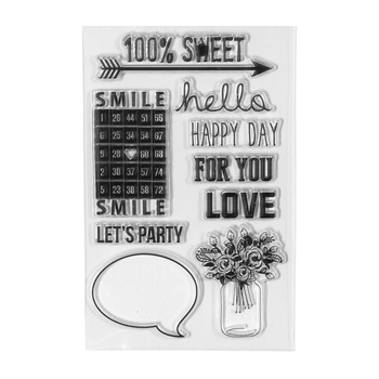 STP-009 Spellbinders 100% SWEET Clear Stamps