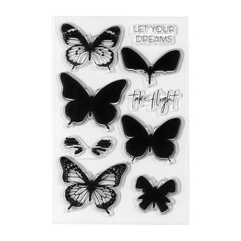 STP-003 Spellbinders LAYERED BUTTERFLIES Clear Stamps