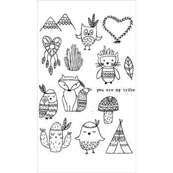 Flora and Fauna YOU ARE MY TRIBE Clear Stamps 20213