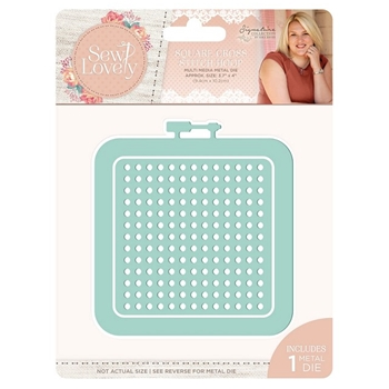 Crafter's Companion SQUARE CROSS STITCH HOOP Sew Lovely Metal Die s-sl-mmd-scsh