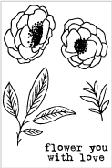 Flora and Fauna MINI FLOWER YOU WITH LOVE Clear Stamps 20222