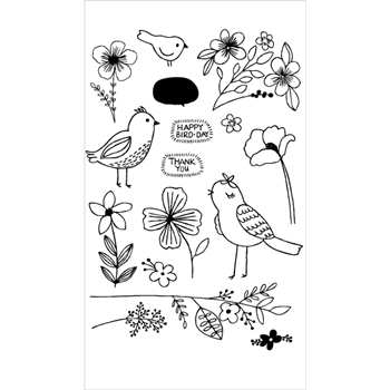 Flora and Fauna BIRD BLOSSOMS Clear Stamps 20215