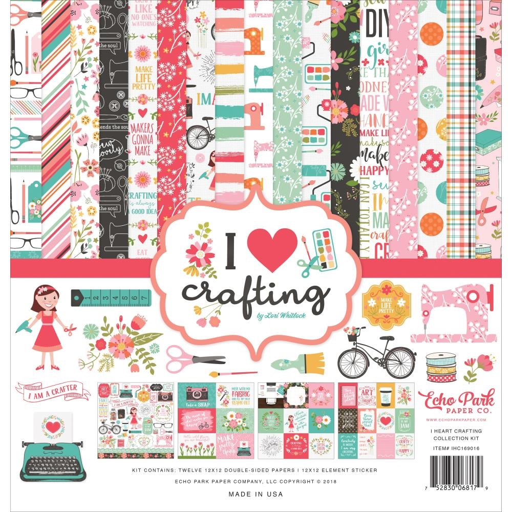 Echo Park I HEART CRAFTING 12 x 12 Collection Kit ihc169016 zoom image