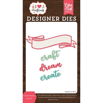 Echo Park CREATE BANNER Die Set ihc169040
