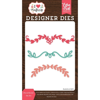 Echo Park FLORAL BORDER Die Set ihc169041