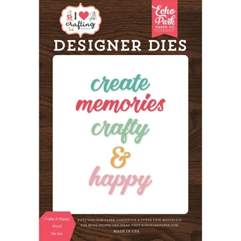 Echo Park CRAFTY & HAPPY WORD Die Set ihc169042