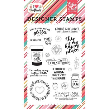 Echo Park JUST ADD GLITTER Clear Stamps ihc169044