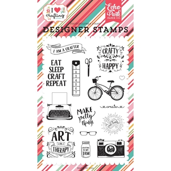 Echo Park I AM A CRAFTER Clear Stamps ihc169045