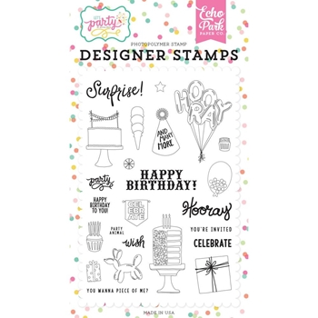 Echo Park PARTY ANIMAL Clear Stamps lp170041