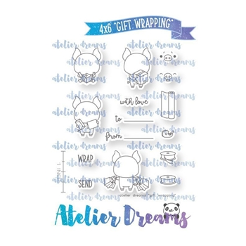 Atelier Dreams GIFT WRAPPING Clear Stamp Set adg035