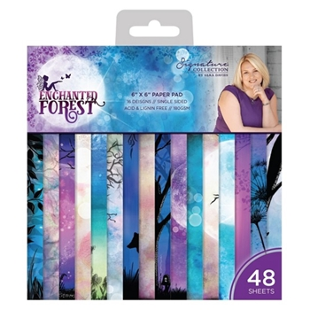 Crafter's Companion ENCHANTED FOREST 6 x 6 Paper Pad s-ef-pad6