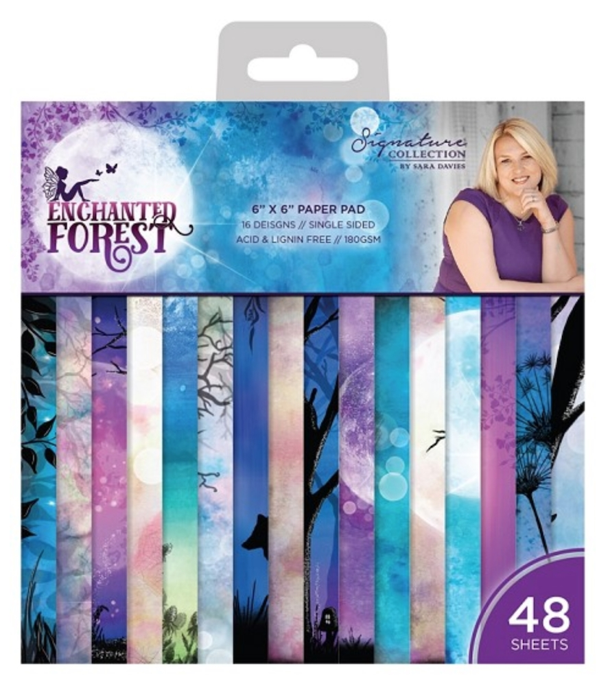 Crafter's Companion ENCHANTED FOREST 6 x 6 Paper Pad s-ef-pad6 zoom image