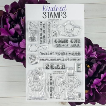 Kindred Stamps COME ONE COME ALL Clear Stamp Set KS8428