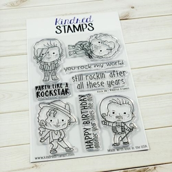 Kindred Stamps ROCK ON Clear Stamp Set KS38908