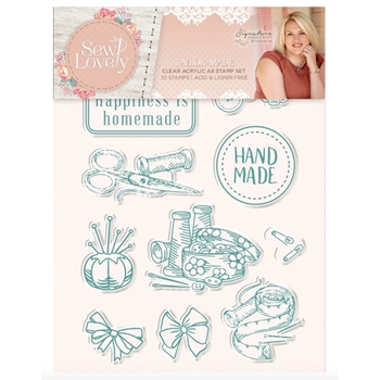 Crafter's Companion TAILOR MADE Sew Lovely Clear Stamp Set s-sl-st-tailm