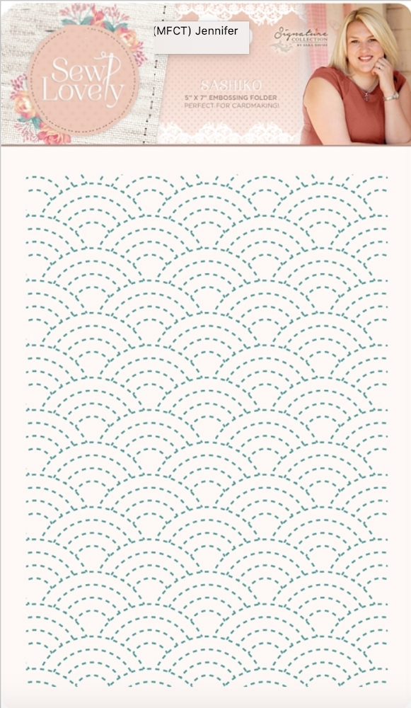 Crafter's Companion SASHIKO Embossing Folder Sew Lovely s-sl-ef5-sash zoom image