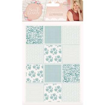 Crafter's Companion PRETTY PATCHWORK Embossing Folder Sew Lovely s-sl-ef5-ppat