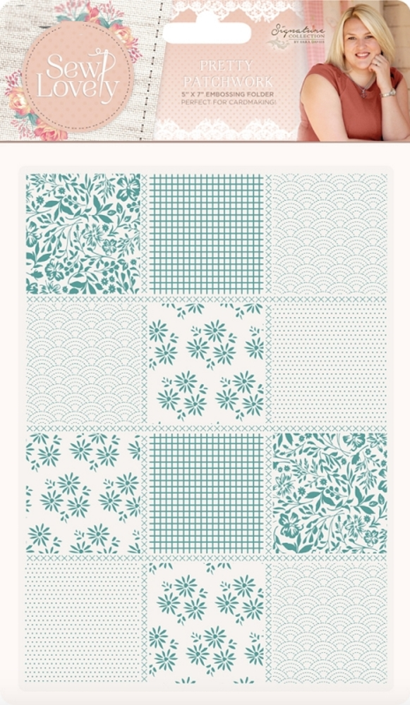 Crafter's Companion PRETTY PATCHWORK Embossing Folder Sew Lovely s-sl-ef5-ppat zoom image