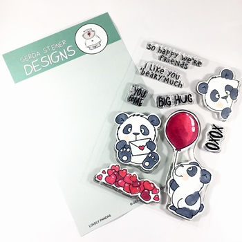 Gerda Steiner Designs LOVELY PANDAS Clear Stamp Set gsd663